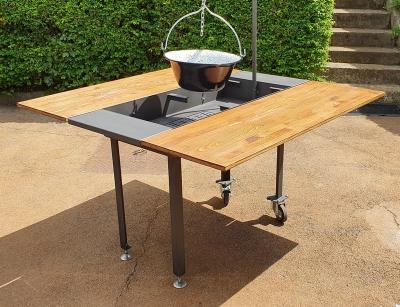 Épített kerti grill 4 és 8 személyes változatban